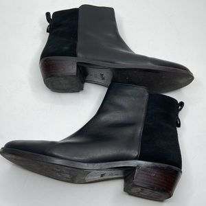 COACH Carmen Semi Mat Suede Leather Ankle Booties Size 7.5M